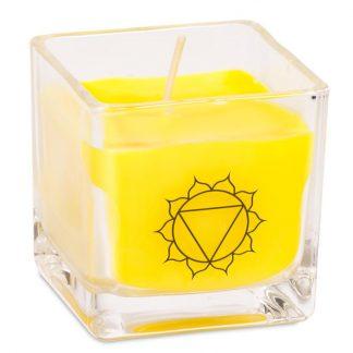 Bougie parfumée cire de colza écolo 3eme chakra
