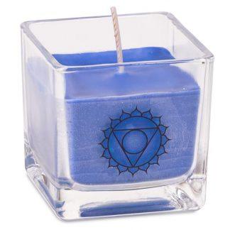 Bougie parfumée cire de colza écolo 5eme chakra