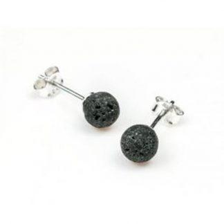 Boucles-oreilles-pierre-de-lave-clous-argent-925