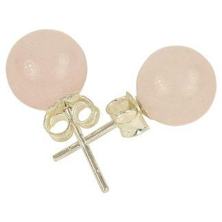 Boucles-oreilles-quartz-rose-clous-argent-925-1