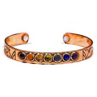 Bracelet-couleur-chakra-cuivre-magnétique