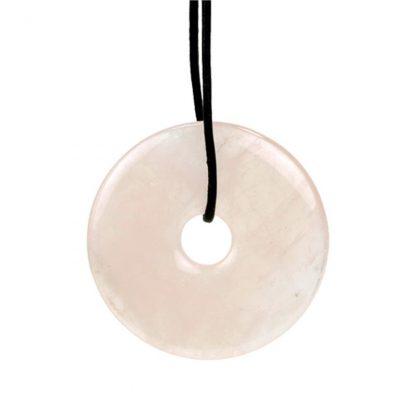 Pendentif-Donut-quartz-rose-sans-cordon-1